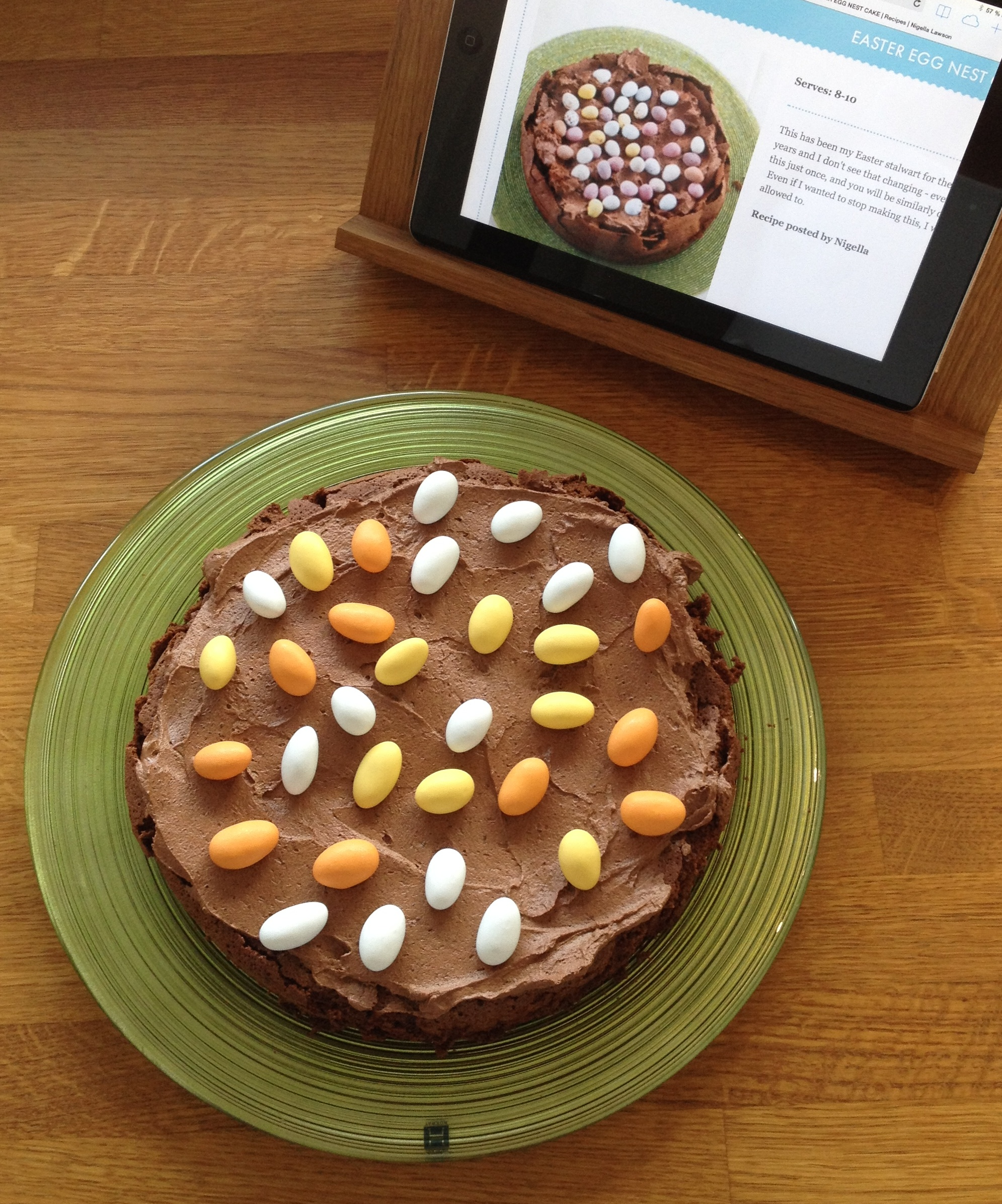 My version of Nigella easter egg nest cake